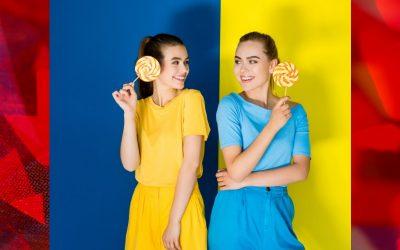 З чим носити блакитний та жовтий?